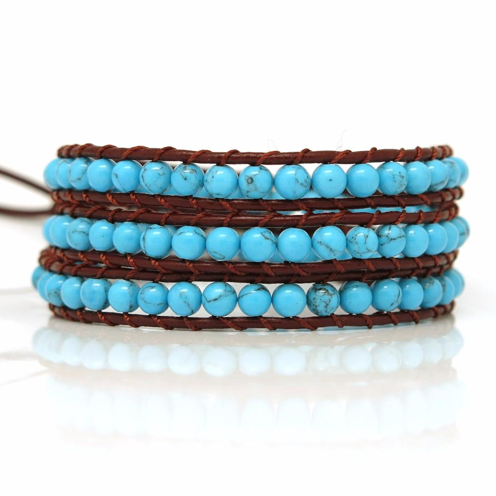stone handmade adjustable bracelet TTT Jewelry leather beaded bracelets