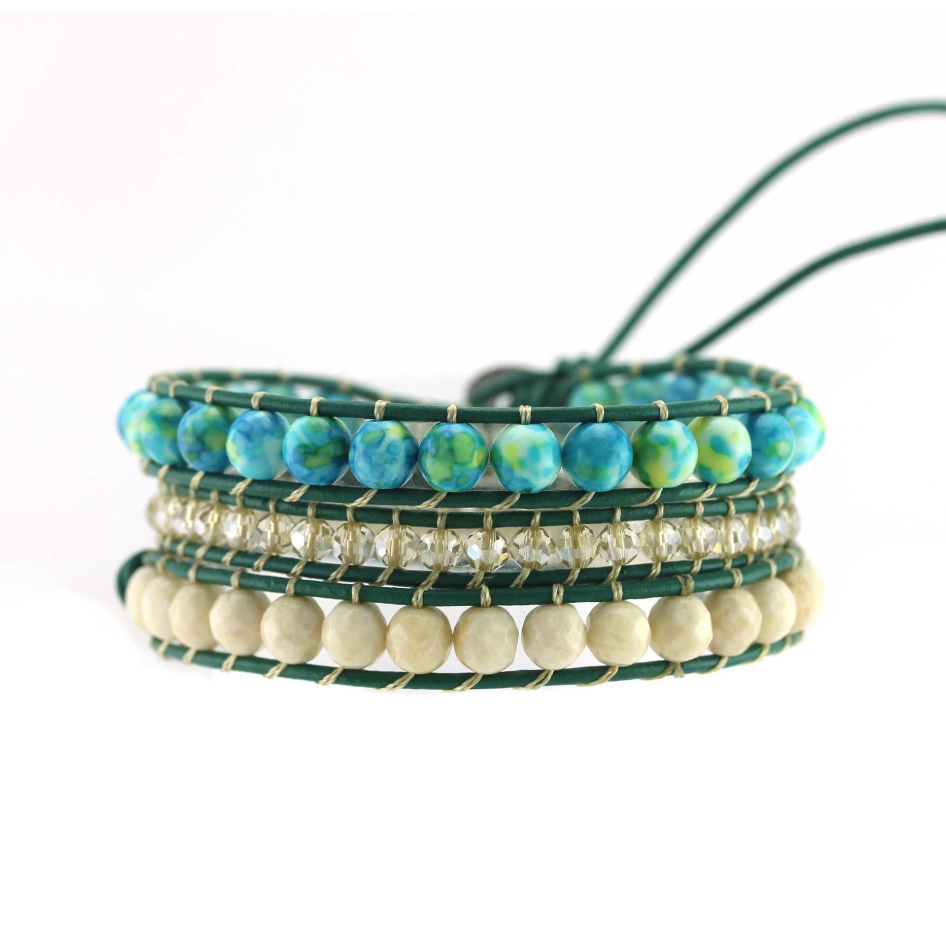 crystal wrap miyuki chan luu wrap bracelet blue TTT Jewelry