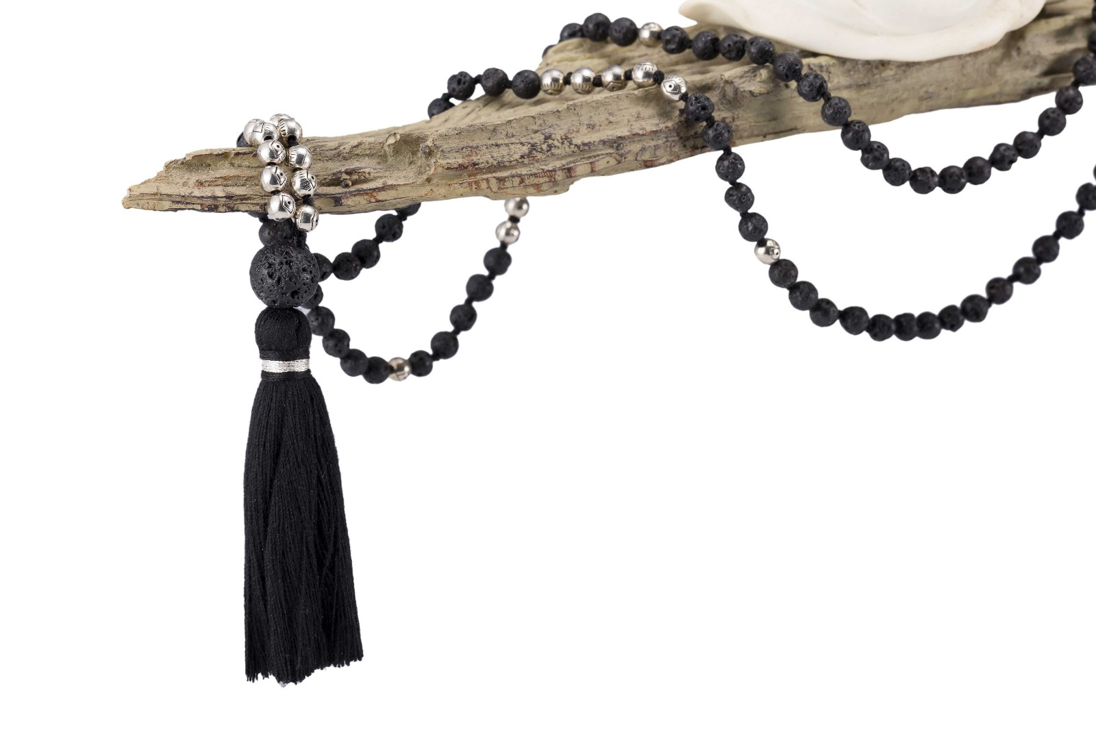 6 mm Japa Mala 108 Meditation Beads Necklace with Metal Parts