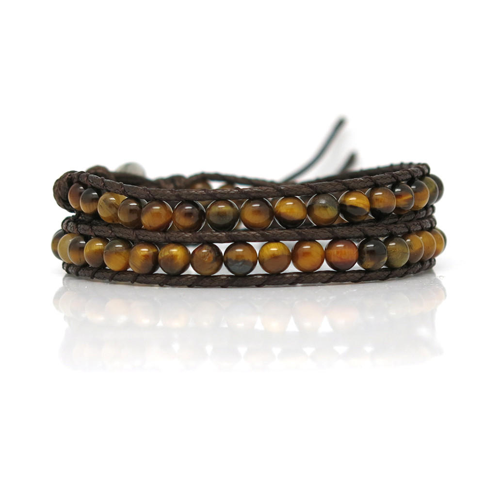 women's leather wrap bracelets wrap handmade chain crystal