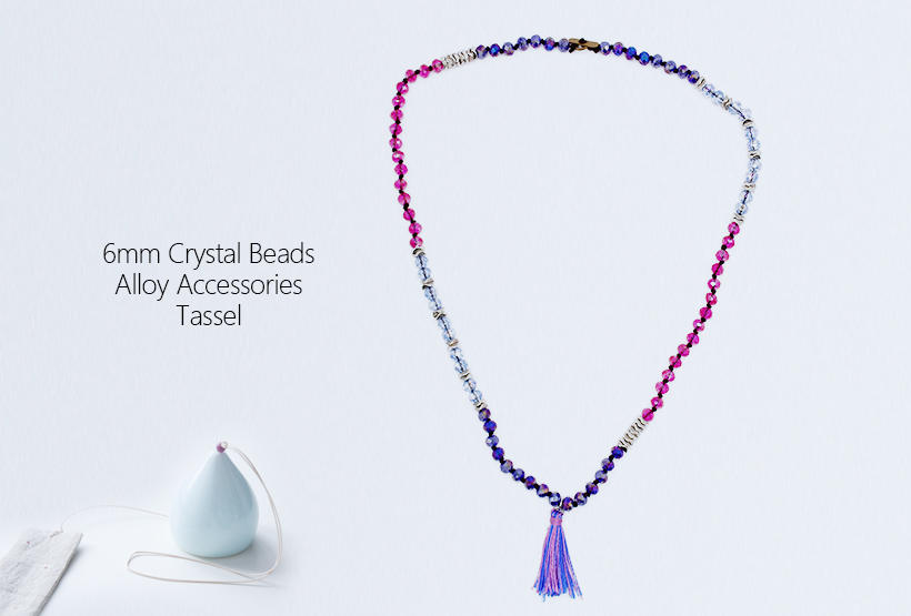 TTT Jewelry Brand colorful handmade tassel crystal necklace