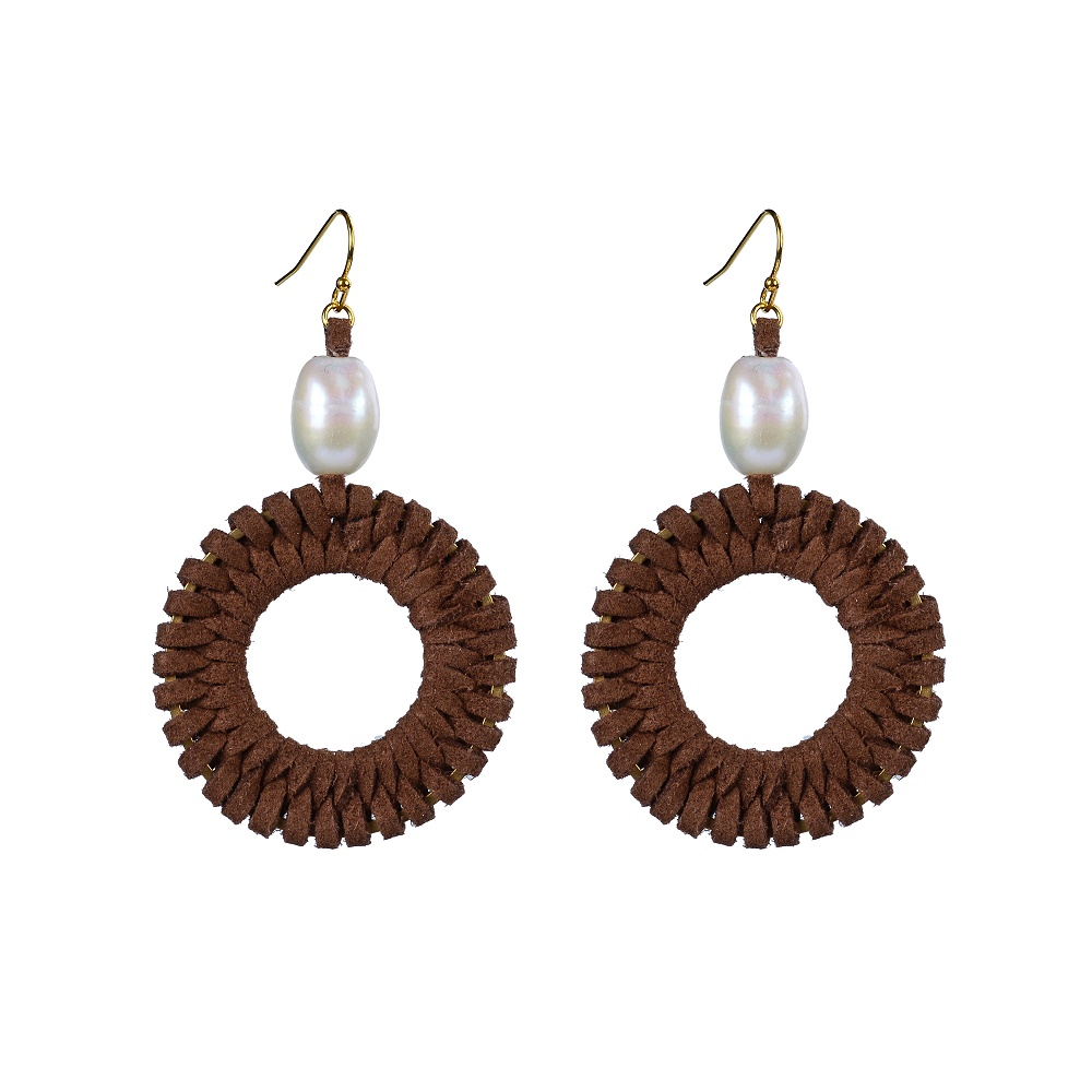 handmade jewelry simple fashion round shaped pearl wholesale earrings