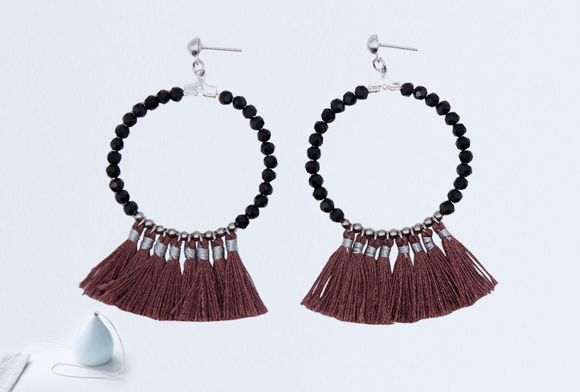Handmade Jewelry Fantasy Beaded Tassel Earrings for Women