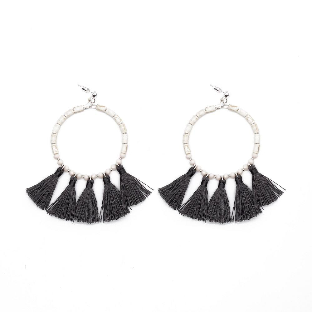 TTT Jewelry black tassel earrings handmade earrings women fantasy