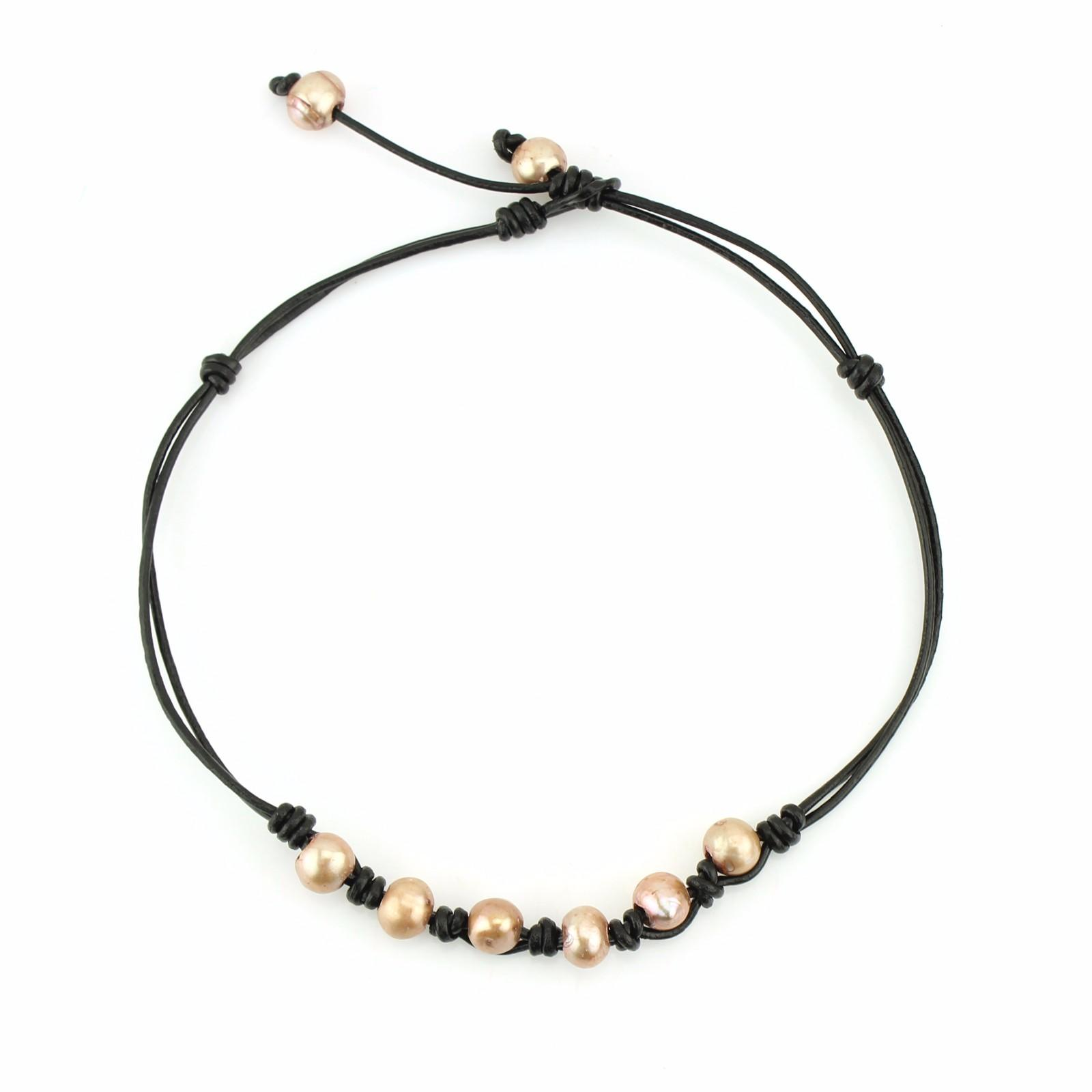pearl freshwater plain black choker necklace TTT Jewelry Brand