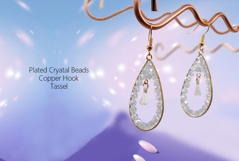 Wholesale Jewelry Handmade Boutique Crystal Beads Earring