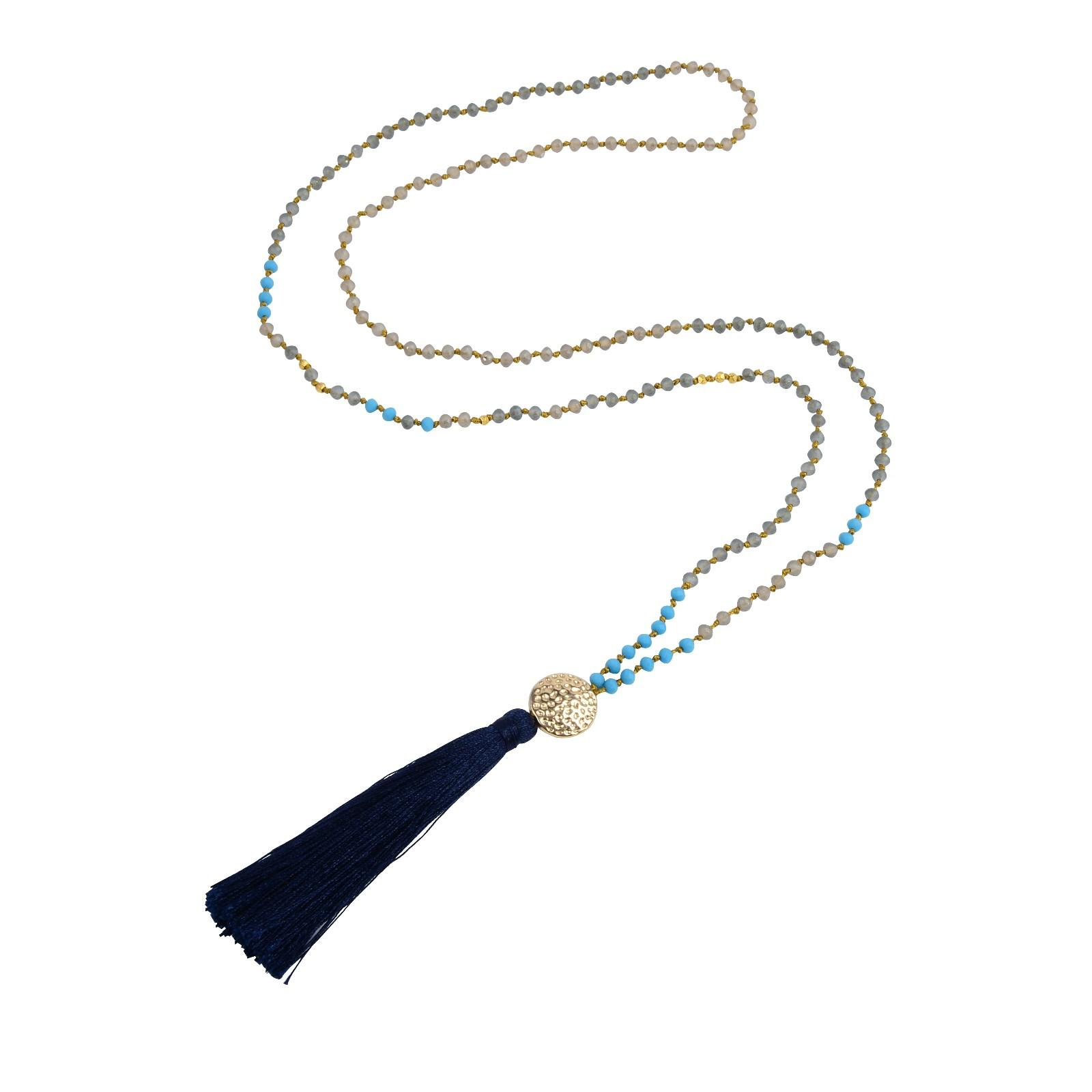colorful pearl and crystal necklace handmade necklace TTT Jewelry Brand