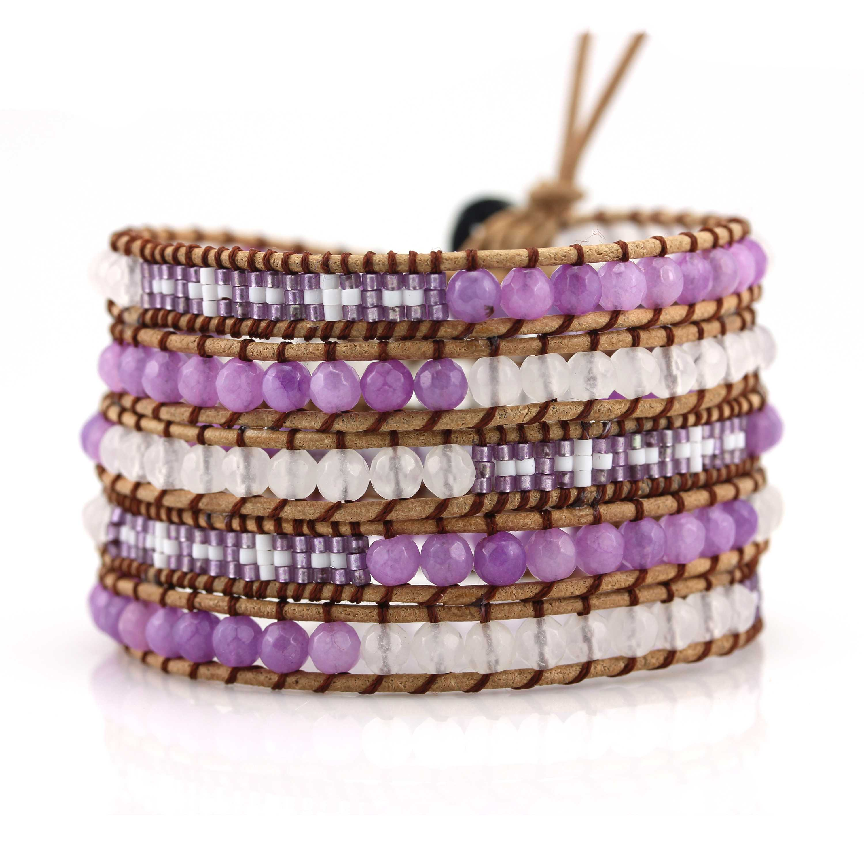 TTT Jewelry Miyuki Seed Beads and Stone Beads 5 Wraps Handcrafted Bracelet 5 Wraps image15