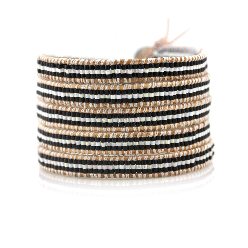 Japanese Miyuki Seed Beads 5 Wrap Handcrafted  Bracelet