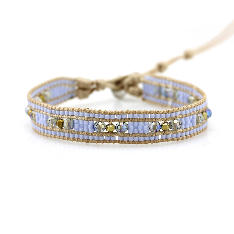 TTT Jewelry Miyuki Seed Beads and Crystal Beads 1 Wrap Handmade Bracelet 1 Wrap image5