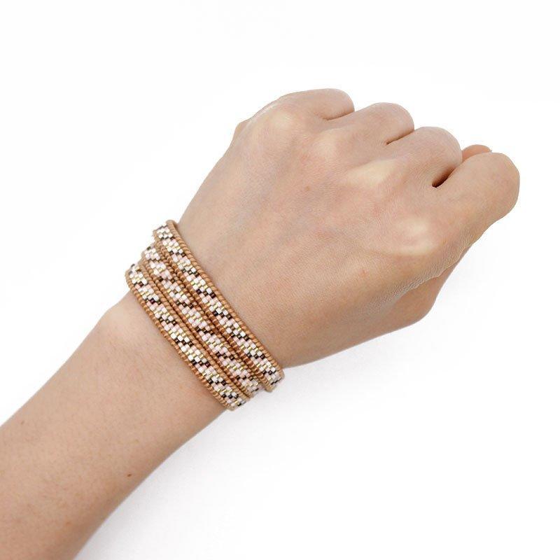 Japanese Miyuki Seed Beads Wrap Handcrafted Bracelet