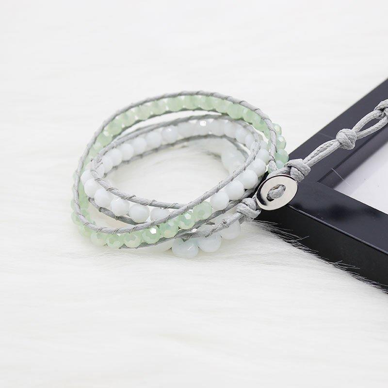 Crystal Beads & Natural Stone Beads Wrap Handmade Bracelet