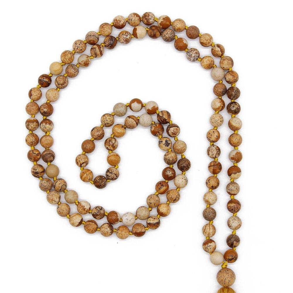 6 mm Natural Stone Beads Mala Handmade Necklace