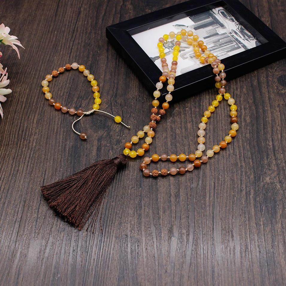 Mala Set Handmade Necklace with 6mm Stone Beads