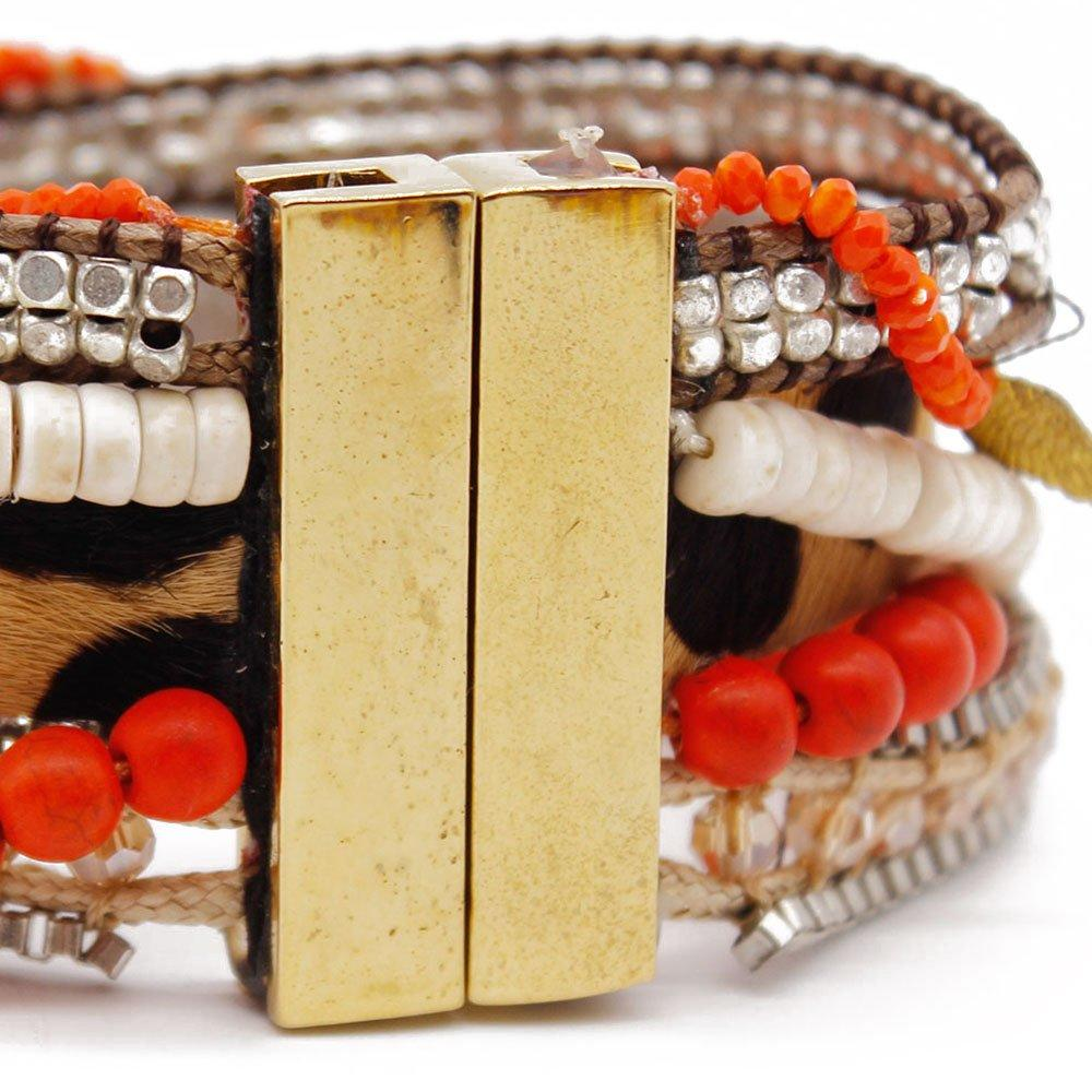 Boho Jewelry Clasp Magnet Handmade Bracelet with Stone Beads