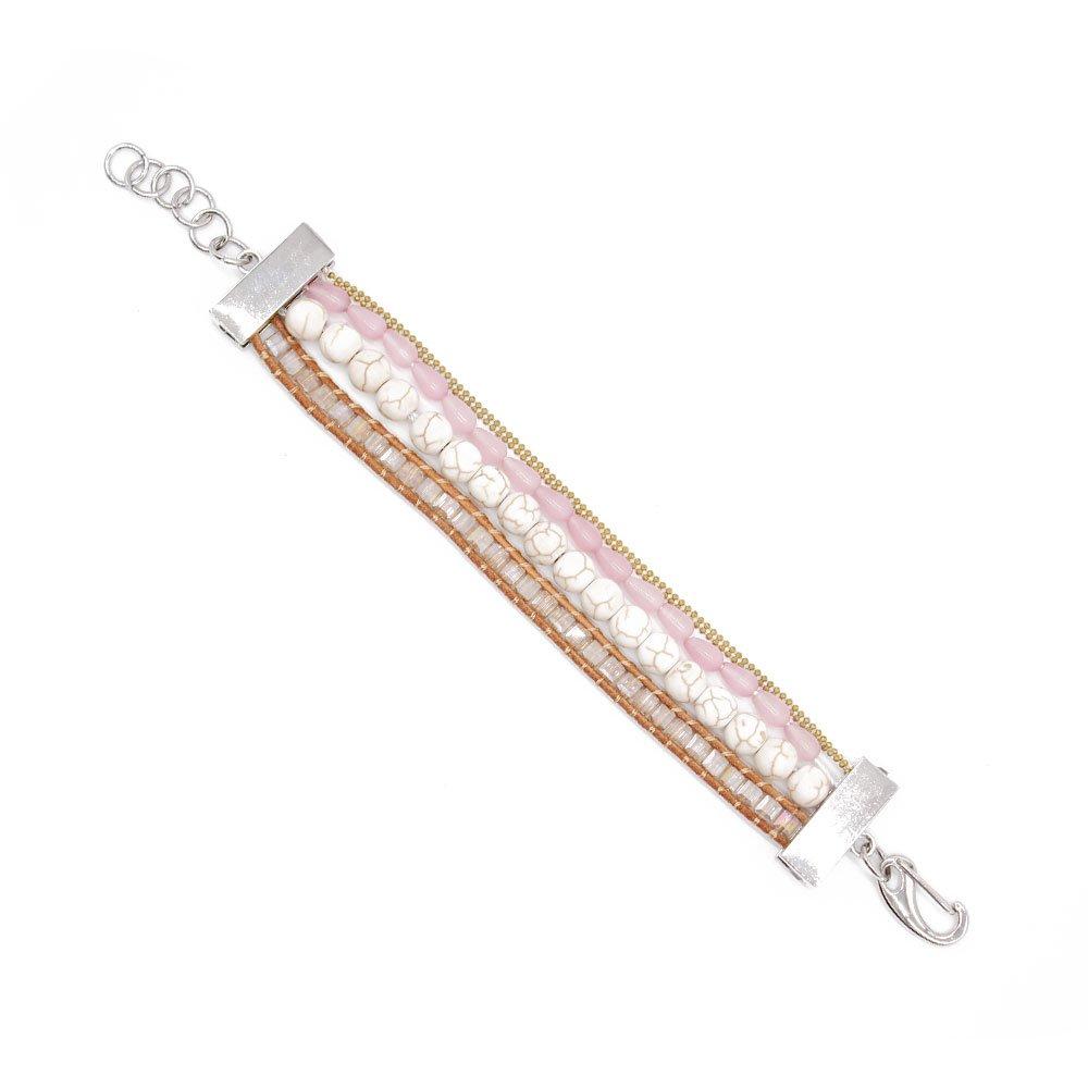 TTT Jewelry Boho 4 Strands Handmade Bracelet with Gold Copper Chain Mini image19