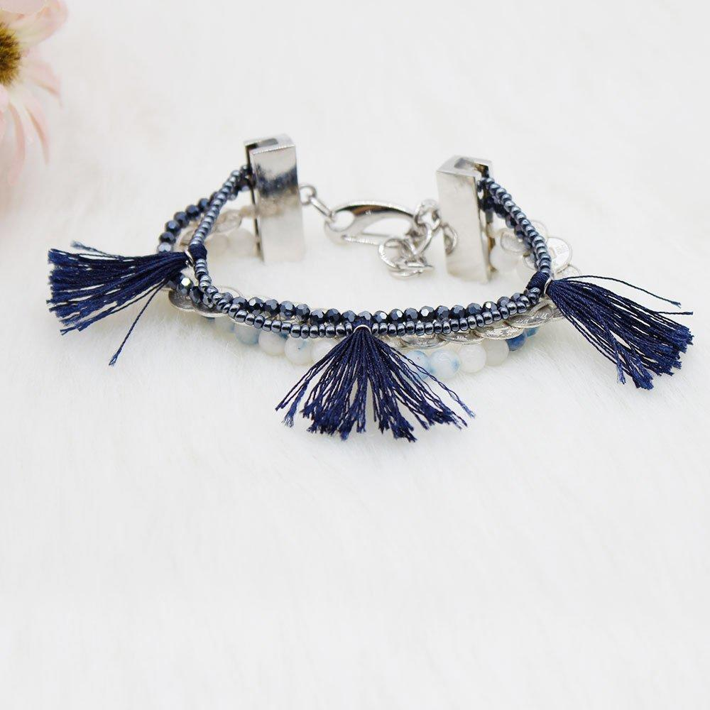 Bohemian Handmade Bracelet with Lobster and Multi Tassel