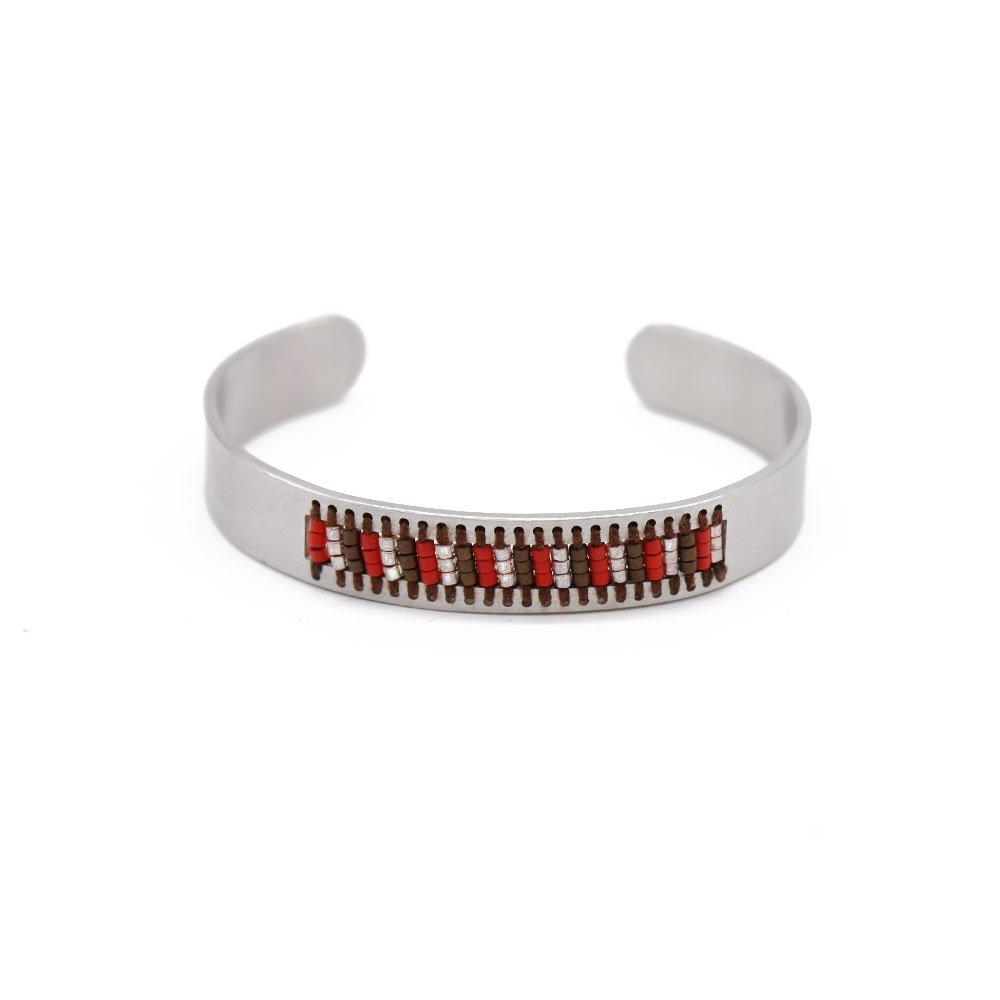 TTT Jewelry Cuff Bracelet Stainless Steel Handmade Bangle with Miyuki Hollowed-out Miyuki Bracelet image25