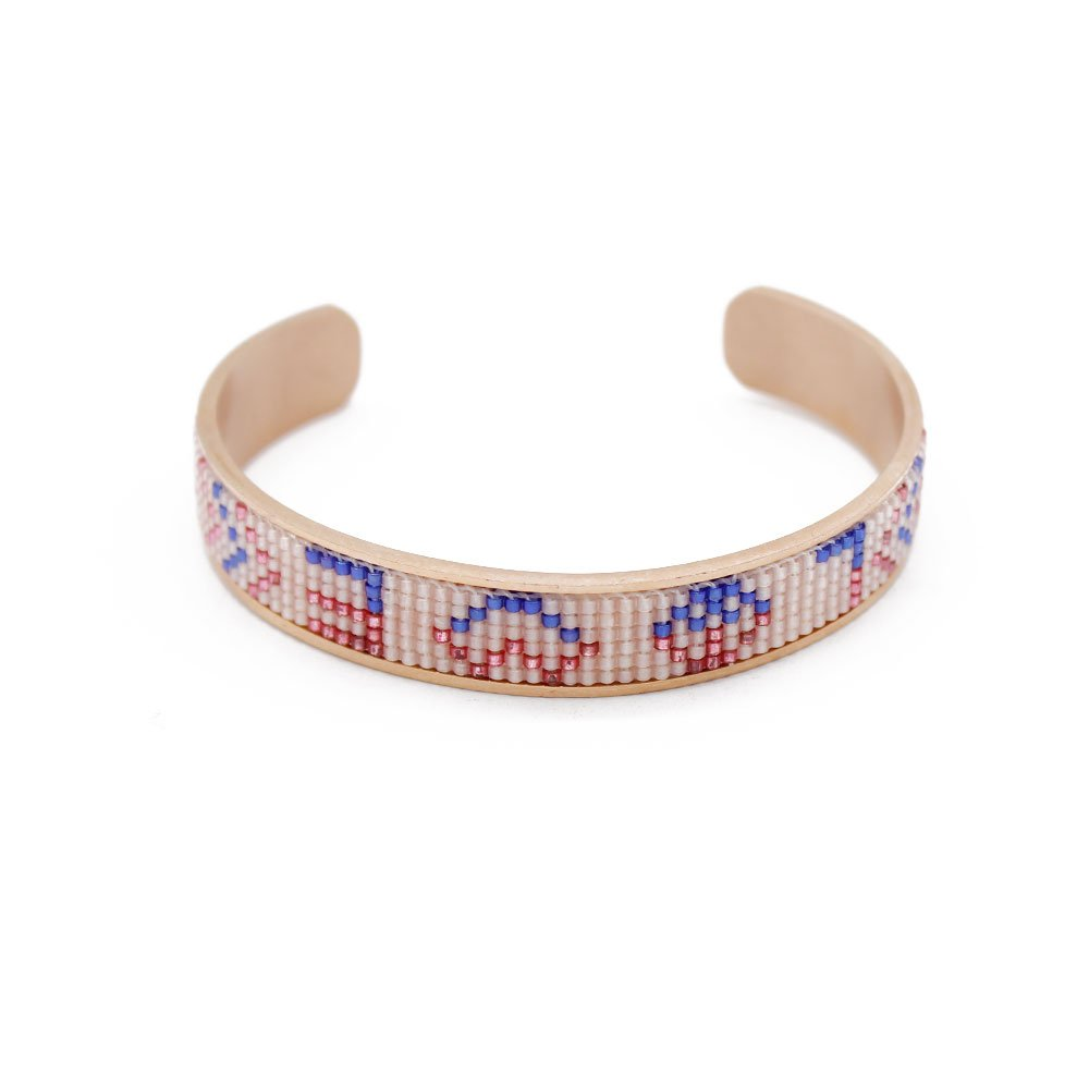 TTT Jewelry Cuff Bracelet Stainless Steel Handmade Bangle with Miyuki Seed Beads Miyuki Bracelet image24