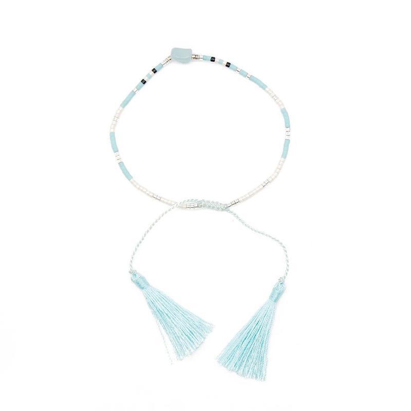 Miyuki Seed Beads Simple Design Handmade Bracelet with Tassel