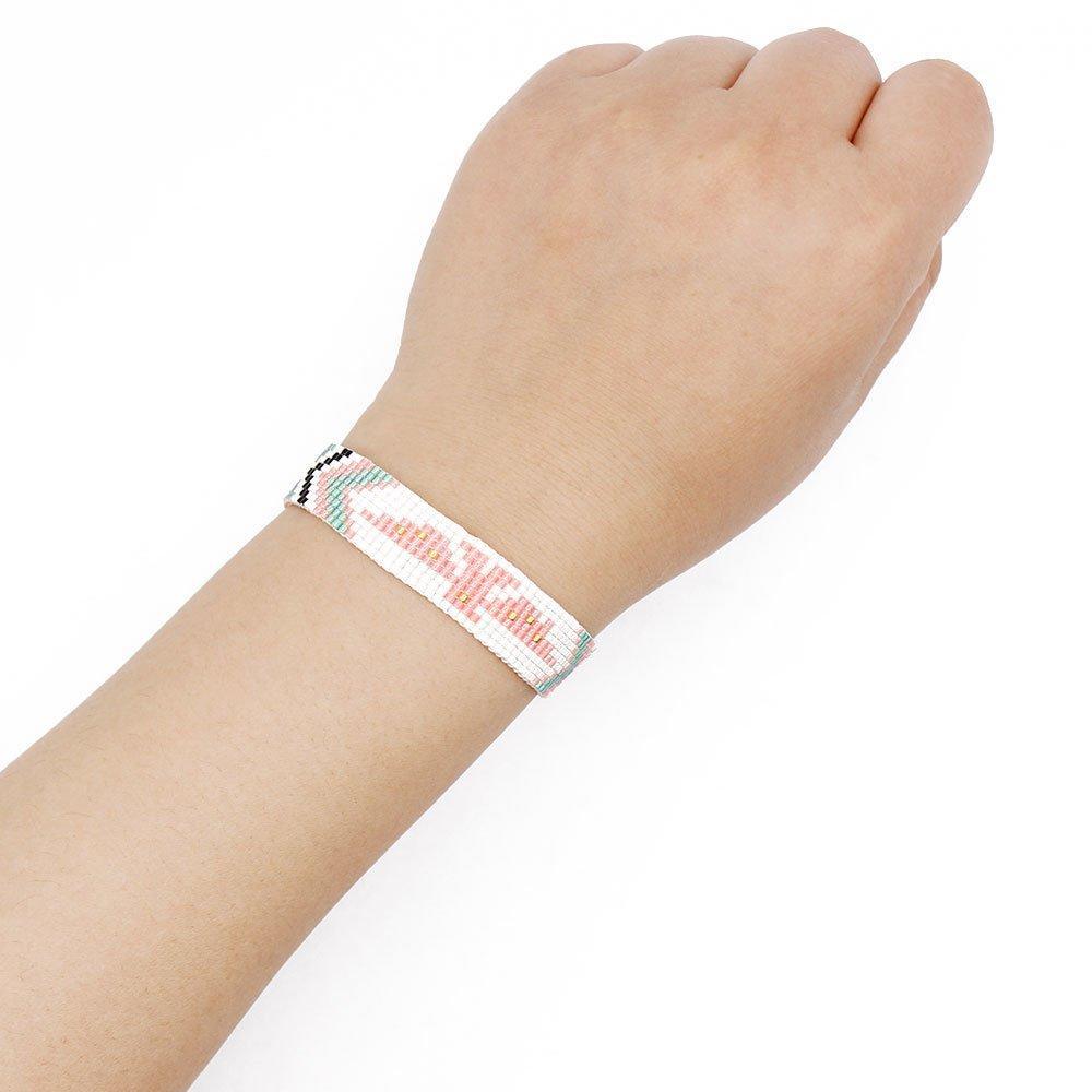 Miyuki Seed Beads Handmade Bracelet with Lobster Clasp
