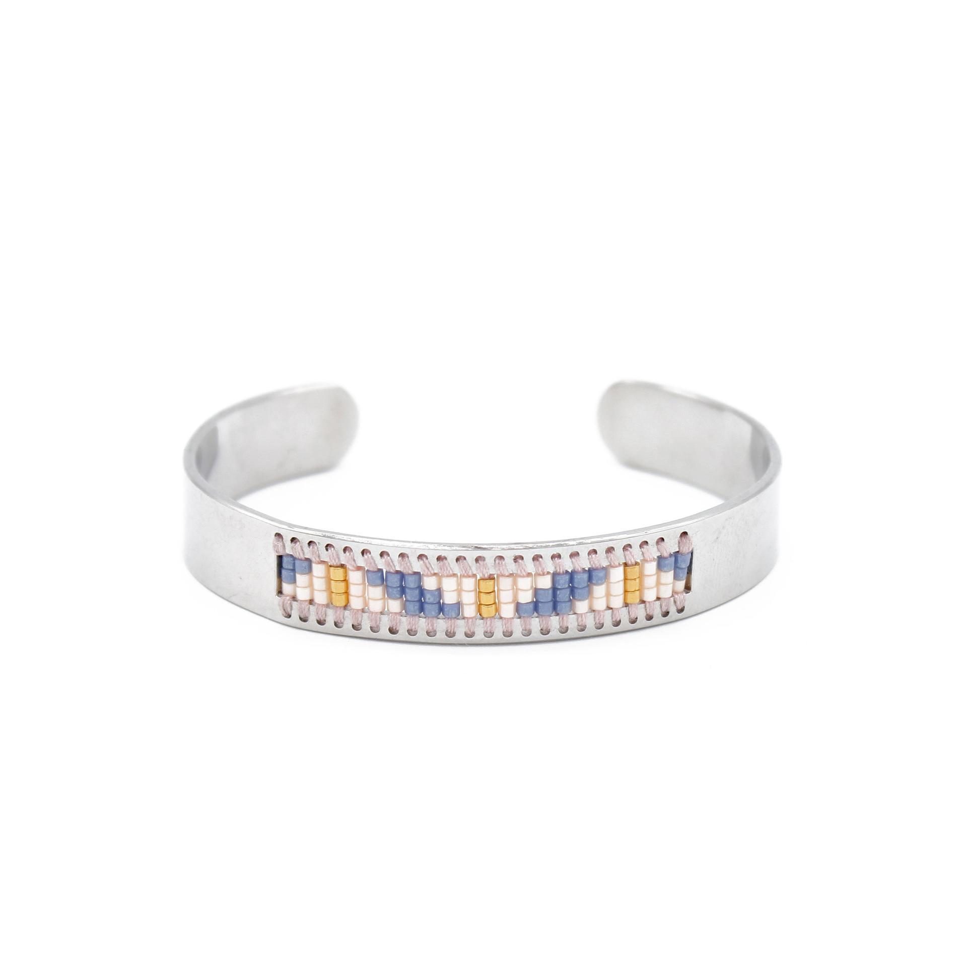 stainless steel bangle bracelets miyuki steel seed handmade Bulk Buy