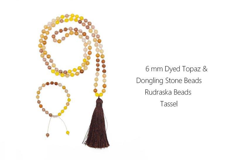 Mala Set Handmade with 6mm Stone Beads