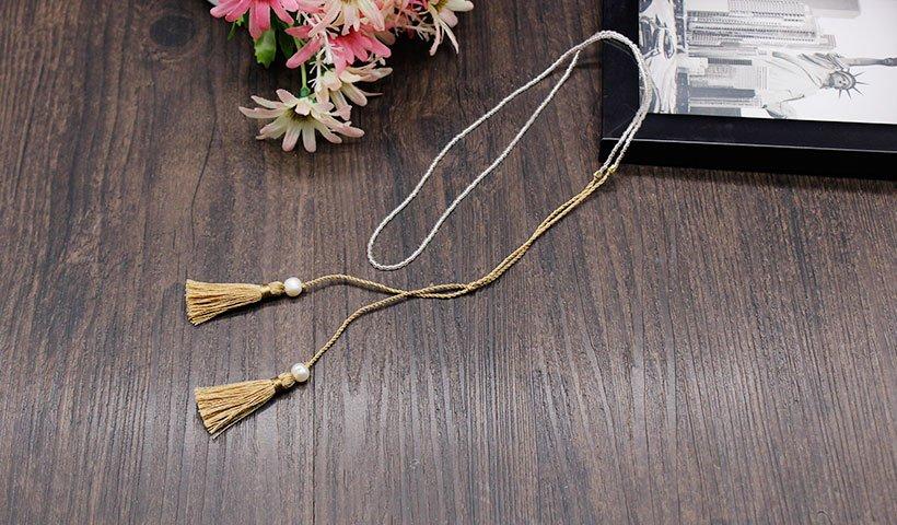 Miyuki Seed Beads Necklace with Tassel