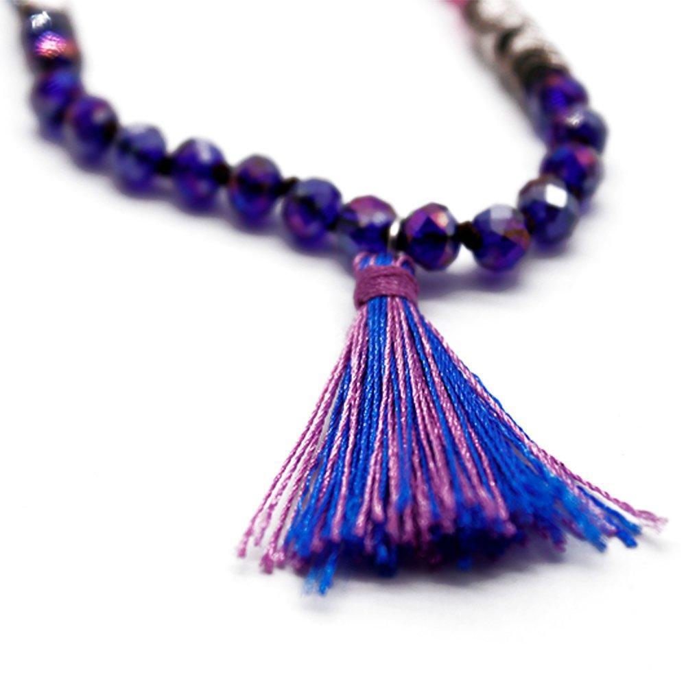Colorful Crystal Bead Handmade Necklace with Tassel