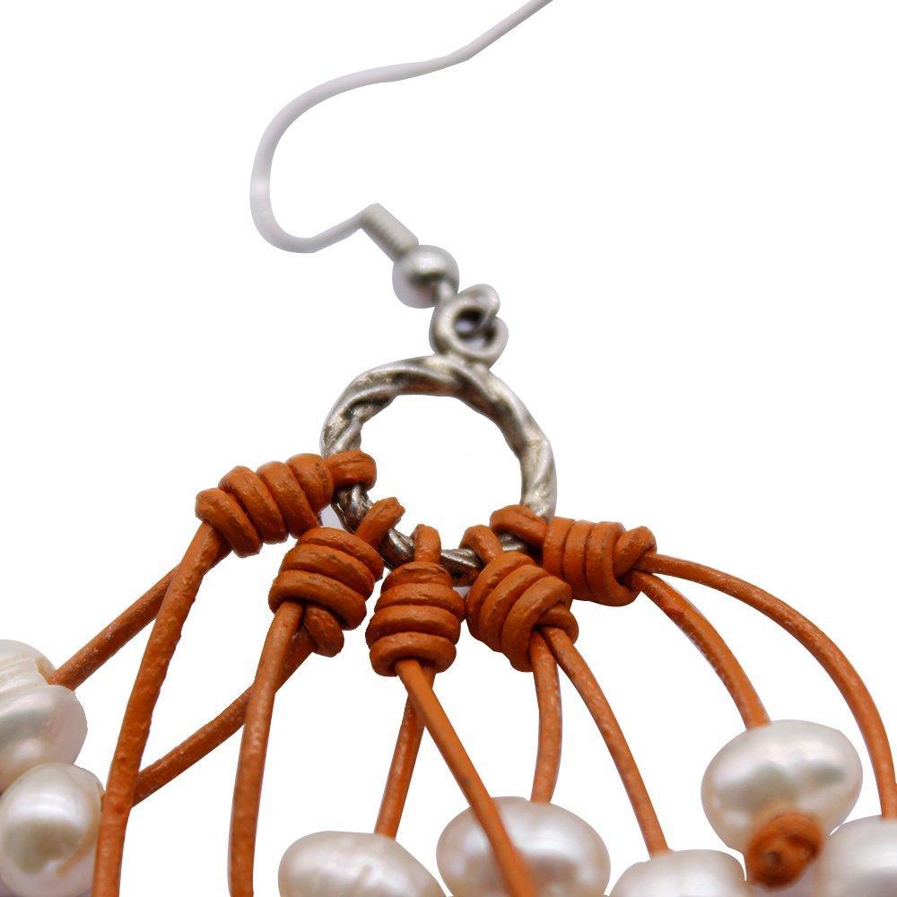 Latest Fashionable Design of Pearl Handmade Earrings