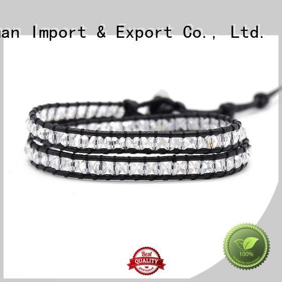Quality TTT Jewelry Brand women's leather wrap bracelets stone natural