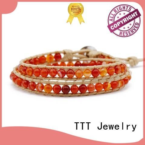 women's leather wrap bracelets chain natural bracelet TTT Jewelry Brand