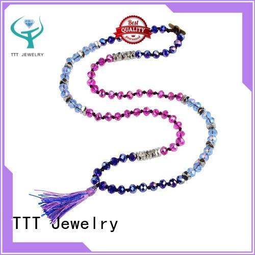 Quality TTT Jewelry Brand pearl and crystal necklace necklace crystal