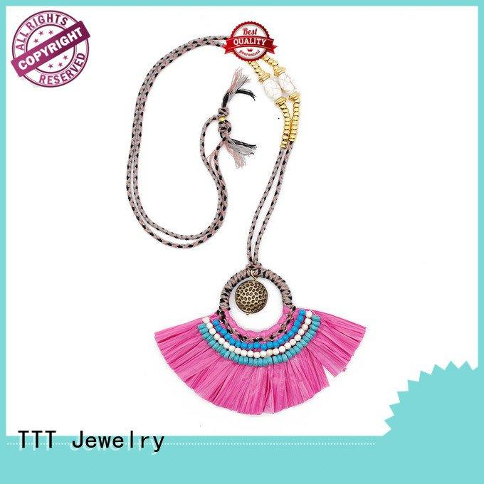 TTT Jewelry Brand parts raffia handmade women's jewelry necklaces