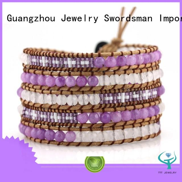 womens cuff bracelet beads boho wrap bracelet genuine TTT Jewelry