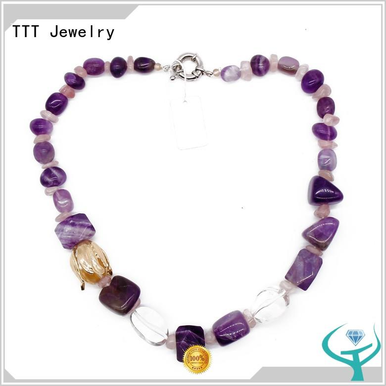 rhinestone necklace stone beads gemstone necklaces manufacture