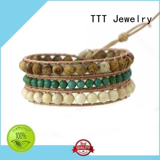 TTT Jewelry Brand miyuki chan luu wrap bracelet blue factory