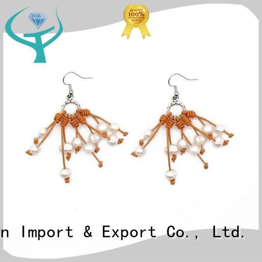 TTT Jewelry black pearl earrings handmade design earrings pearl