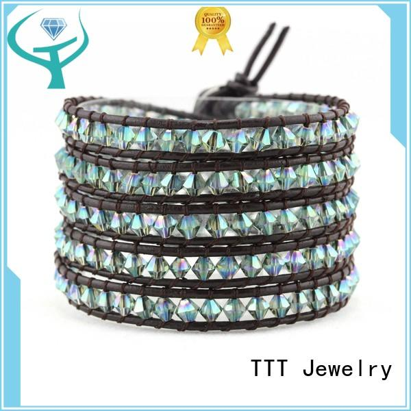 Hot crystal bead bracelets handmade TTT Jewelry Brand
