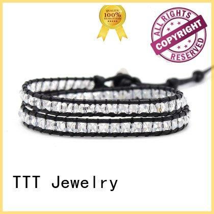chain handmade red beads TTT Jewelry wrap around bracelets