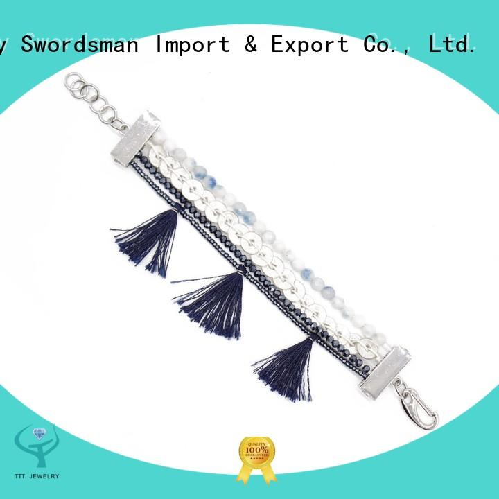 TTT Jewelry tassel crystal bracelets manufacturer for importer