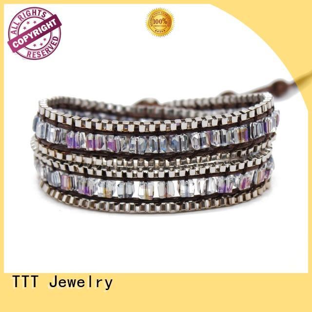 bracelet chain TTT Jewelry Brand women's leather wrap bracelets