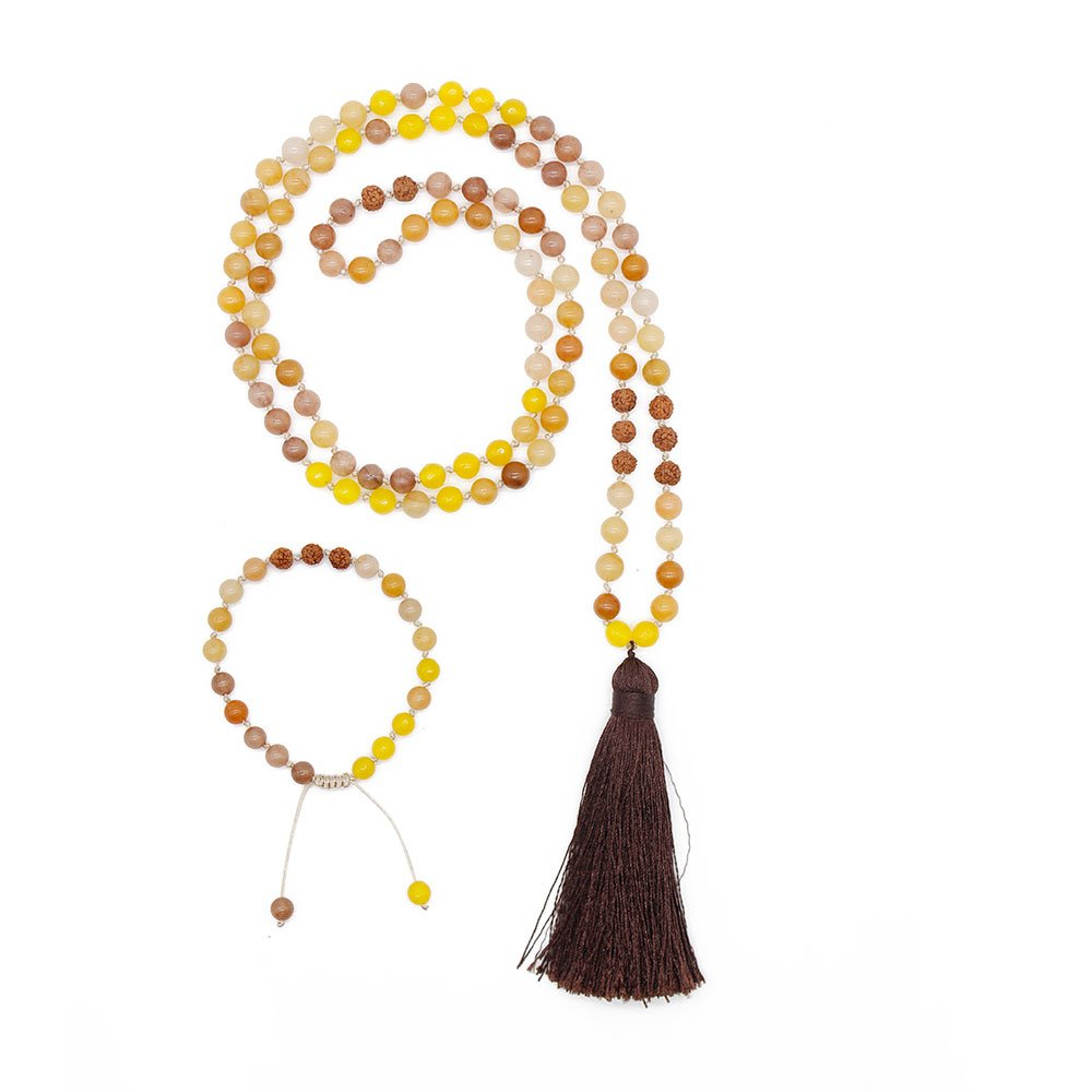 TTT Jewelry Mala Set Handmade Necklace with 6mm Stone Beads Mala Necklace image20