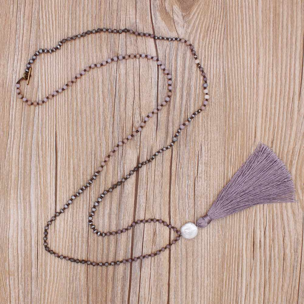 TTT Jewelry Statement Hand-Knot Crystal Beads Necklace Crystal Necklace image9