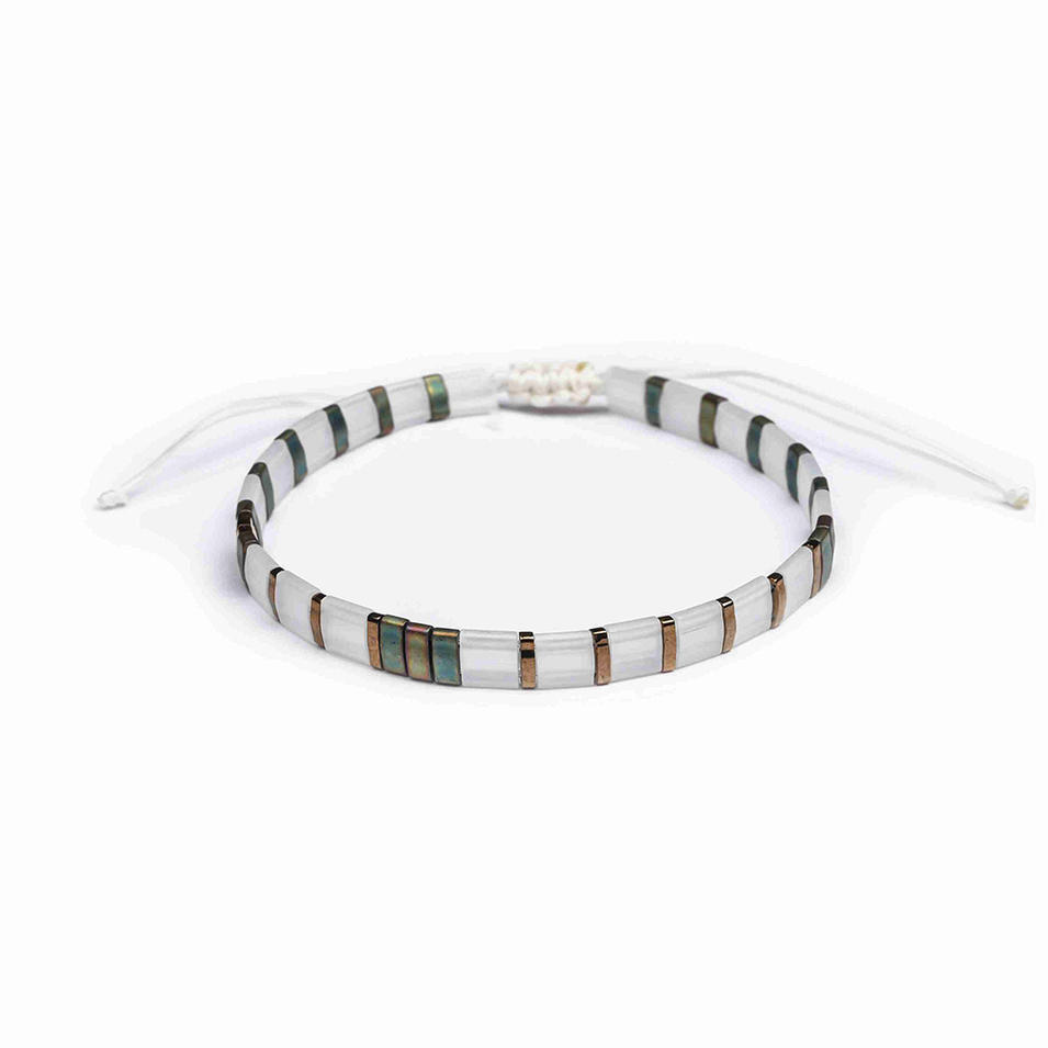 Wholesale Popular Fashion Handmade Tila Bead Bracelet Women Jewelry