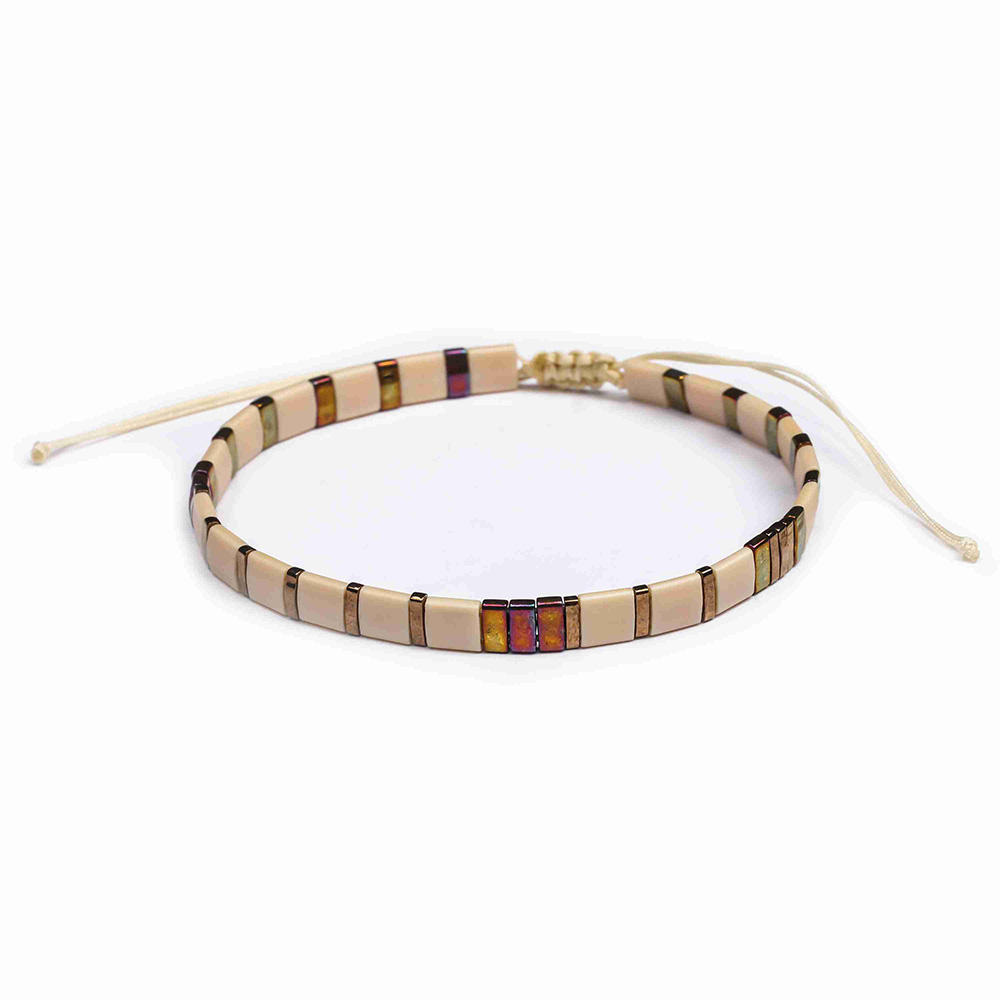 Wholesale Popular Fashion Handmade Tila Bead Bracelet Women Jewelry