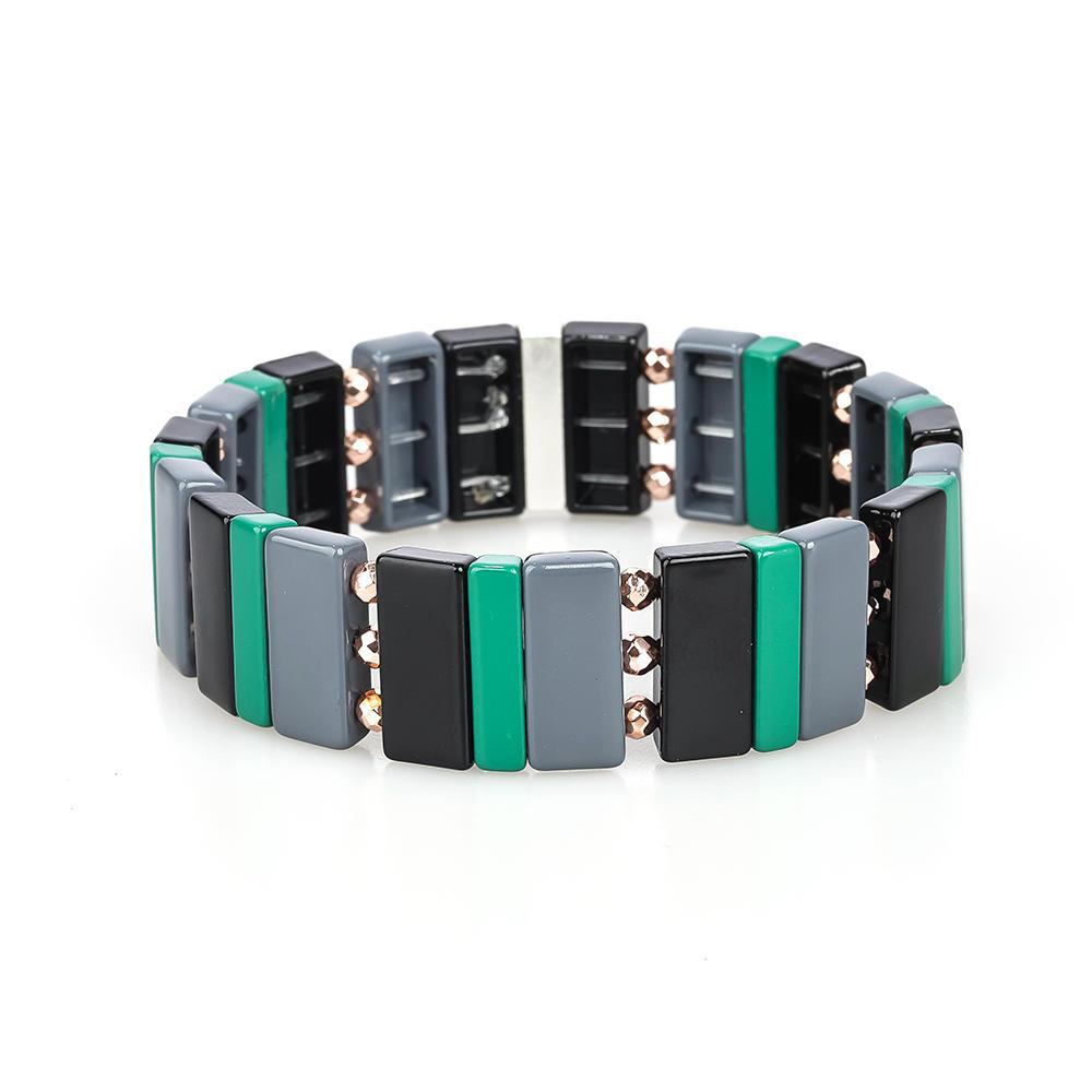 New Design Latest Trendy 3Pcs Colorful Smoothly Enamel Bracelet Women Jewelry