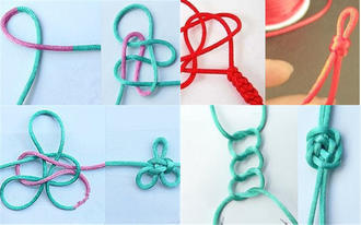 A complete illustration of a rope knitting method to make a fashionable novel bracelet