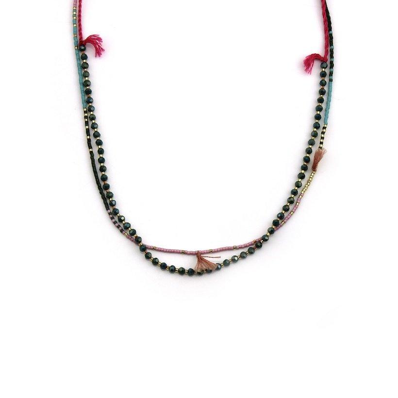 Dynamic Tiny Tassel Long Beaded wholesale Necklace