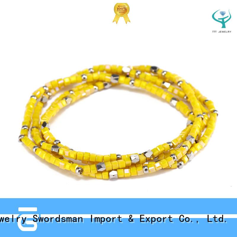 Handmade Mutilayer Crystal Beads Bracelet
